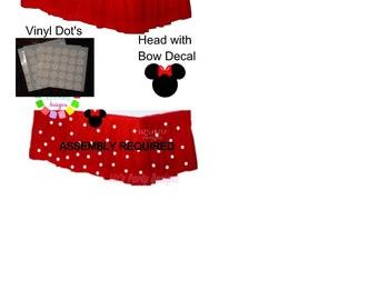 Red Polka Dot Table Skirt DIY KIT