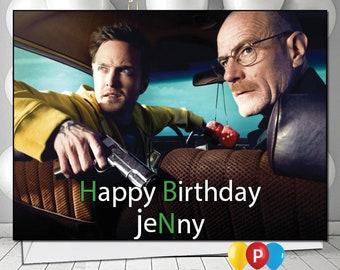 Personalised Braking Bad 1 Birthday Card