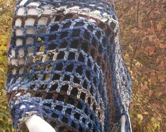 Honey Moon Charisma Poncho, Lakeside Blue