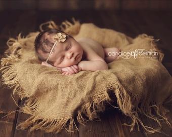 Newborn Photo Prop  Burlap Blanket Baby Photography Prop Burlap Layering Blanket Newborn Photo Prop Burlap Prop Baby Prop Blanket Photo Prop