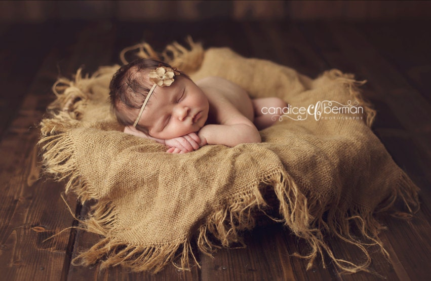 newborn photo prop burlap blanket baby photography prop