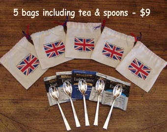 Party Favors. British. Tea party. Wedding favors. Union Jack. British Flag. Tea bag. Keep Calm, Carry On