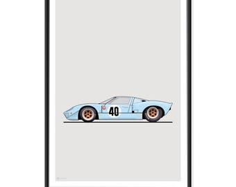 Ford GT40 Gulf Poster
