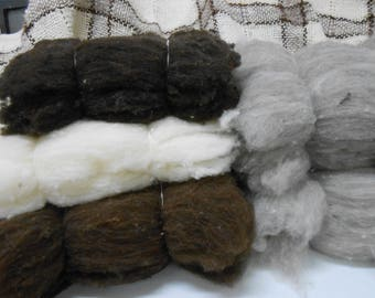 Corriedale Natural colored carded wool that is in batts for felting and other fiber arts.