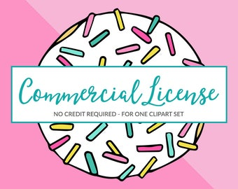 No Credit Required Commercial Use License for One Clipart Set
