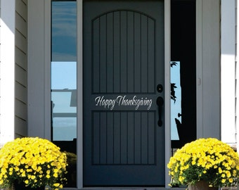 Thanksgiving Wall Decal // Small Decal // Fall Decor // Front Door Decoration // Vinyl Wall Lettering // Vinyl Wall Decal