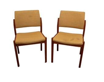 Mid-Century Dining Chairs Danish Modern Svegards Markaryd Teak Side Chairs