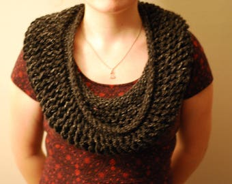 Lacy Grey Cowl