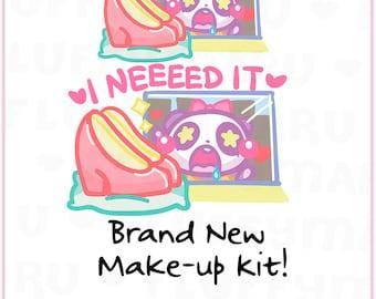 I Need It Panda Mimi || Planner Stickers, Cute Stickers for Erin Condren (ECLP), Filofax, Kikki K, Etc. || MTP36