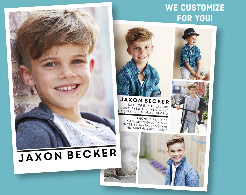 Custom Model Comp Card Customizable Childrens Sed