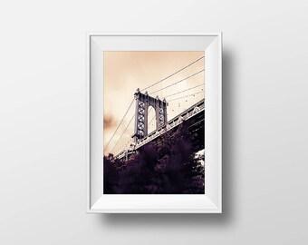 Urban Bridge Poster • City Wall Art • Digital Print • Printable Poster • Urban Photography • City Urban Life