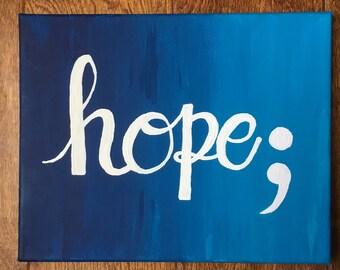 Hope Semicolon Painting