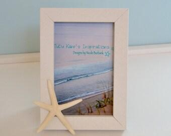 Beach Picture Frame, Beach Decor, Starfish Frame, Starfish Beach Wedding, Nautical Decor, Seashell Frames, Nautical Picture Frame, Coastal
