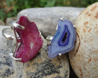 agate and 925 sterling silver ring (single rose is still available)