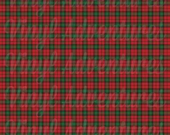 Plaid Heat Transfer Vinyl, Plaid Pattern HTV, Red Green Plaid HTV, Christmas Plaid HTV, 1 Sheet, Siser Easyweed