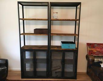 Industrial bookcase modular ref barta