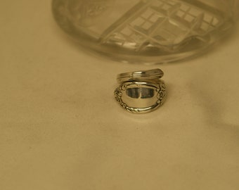 Silver plated spoon ring size 6.5