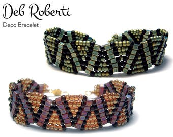 Deco Bracelet beaded pattern tutorial by Deb Roberti