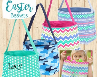 Children's Monogram or Personalized Easter Basket, Bag, Tote with Free Embroidery