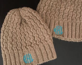 Monogrammed Hat/ Winter Hat/ Monogrammed Winter Hat/ Knit Hat/ Monogrammed Knit Hat