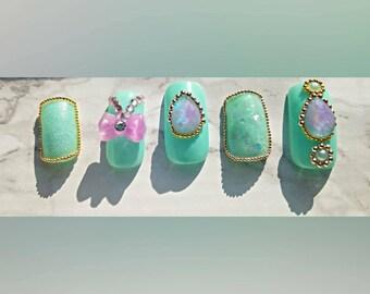 Kawaii nails| Japanese lolita| press on nails|