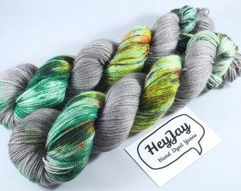 Hand Dyed Ultimate Sock Yarn, BFL High Twist - Woodland