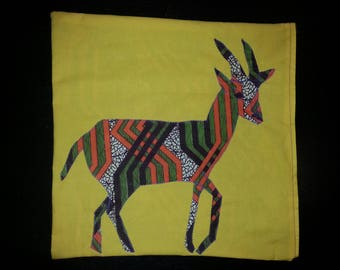 Gazelle on wax decorative pillow cover