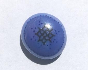 Flower Mandala Meditation Stone