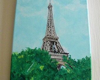 EIFFEL TOWER in a painting