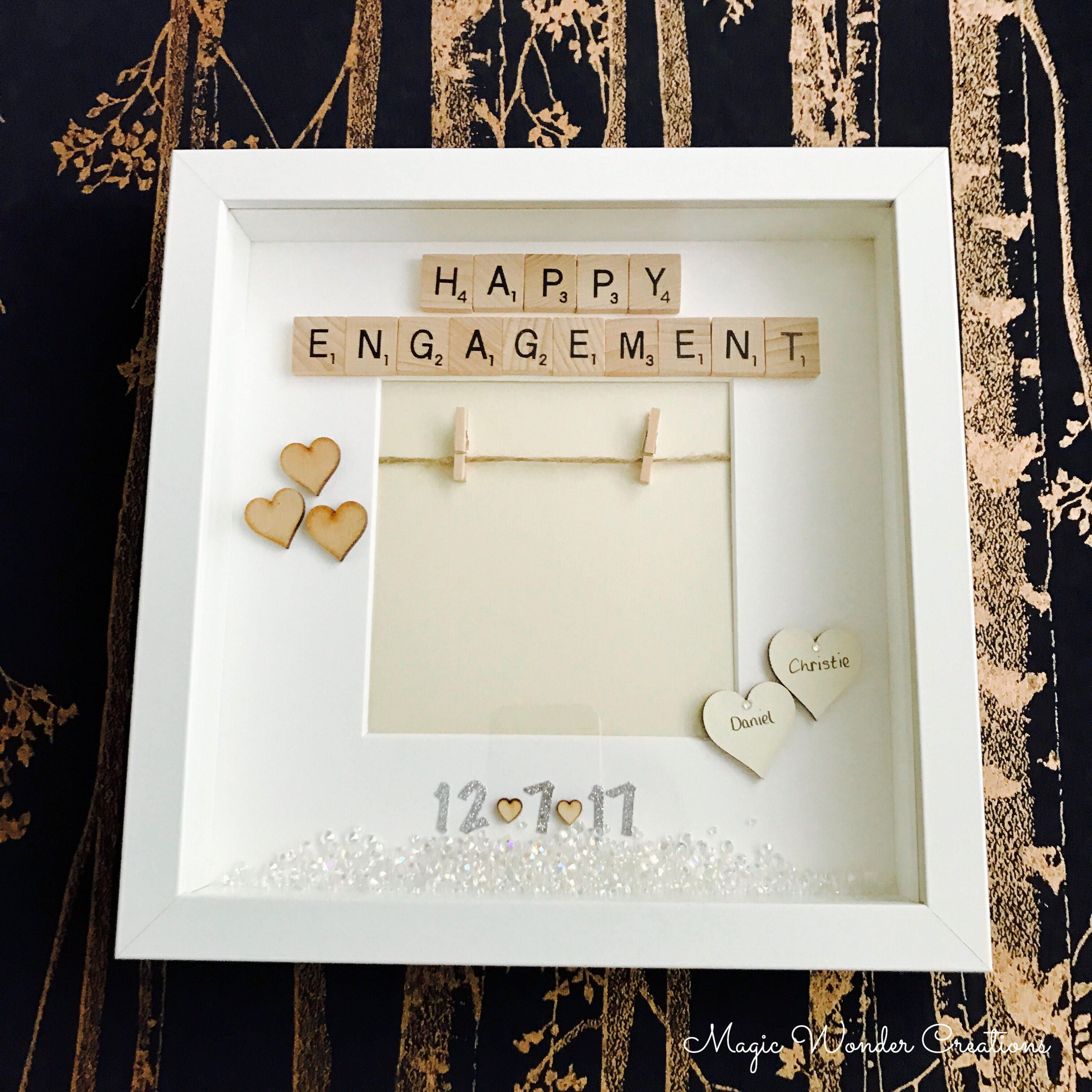 Engagement Photo Frame, Personalised Engagement Gift Frame, Gift for ...