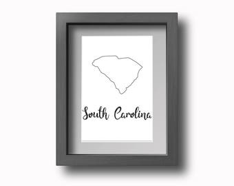 PRINTABLE South Carolina Wall Art!