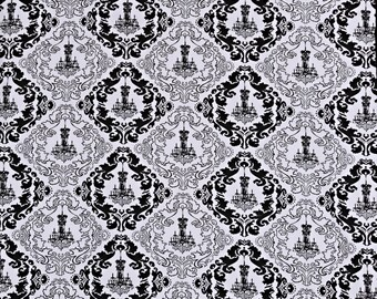 "Chandelier Backdrop White Black Photo Prop Shoots 55"" x 74"" Damask Posh Photography Prop Fabric"