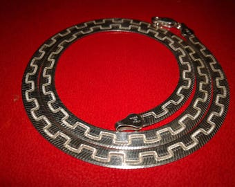 """Men's Sterling Silver Chain Vintage 925 Italy  18"""" L Free US Shipping"""