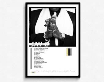 Jay z poster etsy custom jay z reasonable doubt inspired poster hypebeast poster pop culture poster hip malvernweather Choice Image