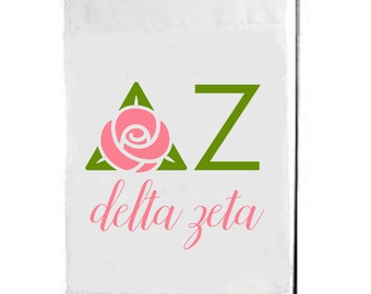 Delta Zeta, Dee Zee, DZ, Delta Zeta Flag, DZ Flag, Delta Zeta Garden Flag, big little, sorority flag, sorority gift, sorority flags