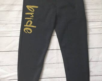 Bride Sweatpants - Comfy Joggers - Fiance Lounge Pants - Lounging Pants - Funny Jogger Sweatpants - Everyday Lounge Skinny Sweatpants