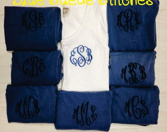 Comfort Color Tanks Set of 8 - Great for Wedding Party | Graduation gifts | Sororities | Bachelorette Party