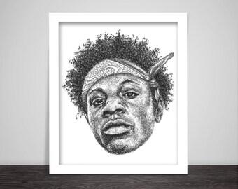 Scribbled Joey Badass - Hip Hop Poster