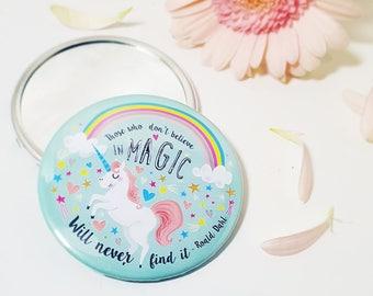 Unicorn Magic Roald Dahl Large Hand Held Pocket Mirror