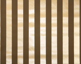 Retro Wallpaper by the Yard 70s Vintage Wallpaper - 1970s Vinyl Chocolate Brown and Tan Stripes