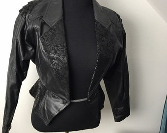 Chia Vintage 80's Leather Motorcycle Jacket in Perfect Condition