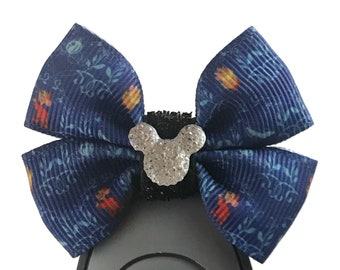 """Cinderella Dooney and Burke Magic Band Bow or Apple Watch Bow, 2"""" Mini Hair Bow, Planner Clip Bow - Disney Parks Collection"""