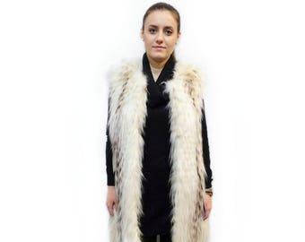Fur Fox Vest,Long Fur Vest,Sleeveless Vest Jacket,Fur Vest,Mothers day gift,Woman Fur Vest,Fashion Teenager Vest,Real Fur Vest,Fox Vest F419