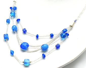 Airy Turquoise Multistrand Necklace nd09