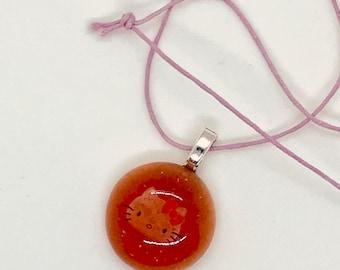 Resin Hello Kitty Pendant Necklace