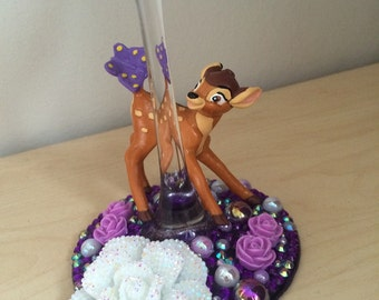 Disney Bambi wine glass
