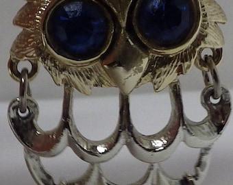 Blue Eyed Owl Pendant