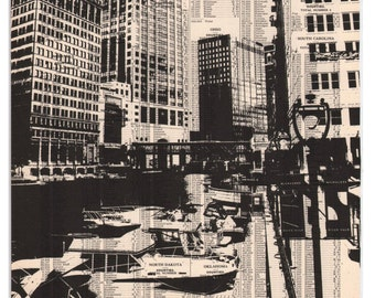 Milwaukee - Book Page Print - Downtown Waterfront