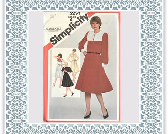 Simplicity 5291 (1981) Misses' pullover dress (with petite option) - Vintage Uncut Sewing Pattern