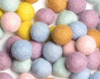 Collection - 60PC Piece CUPCAKE Felt Balls